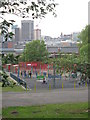 SP0785 : Play area, Highgate Park by Michael Westley