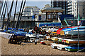 TQ3003 : Boats on Brighton Beach, Sussex by Peter Trimming