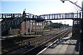 TG1100 : Footbridge at Wymondham Station by Glen Denny
