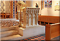 TQ2477 : St Thomas of Canterbury, Rylston Road, Fulham - Pulpit by John Salmon
