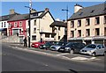 J3014 : Shops facing the Lower Square at Kilkeel by Eric Jones