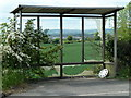 SK4265 : Bus shelter by Tibshelf Road by Andrew Hill