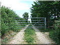 SZ0897 : Gate on the Stour Valley Way, West Parley by Lorraine and Keith Bowdler