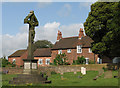 SK5042 : Strelley: churchyard and war memorial by John Sutton