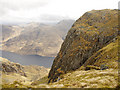 NM8478 : Crags overlooking Loch Shiel by Jonathan Venn