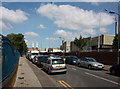 TQ2976 : Thessaly Road with Nine Elms on the right by John Salmon