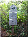 TQ4368 : National Trust sign at the entrance to Hawkwood by Mike Quinn