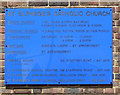 TQ2963 : St Elphege, Stafford Road, South Beddington - Notice board by John Salmon