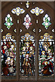 TQ2864 : Holy Trinity, Manor Road, Wallington - Stained glass window by John Salmon