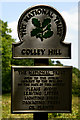 TQ2452 : National Trust Sign, Colley Hill, Surrey by Peter Trimming