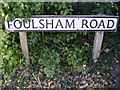 TG0329 : Foulsham Road sign by Adrian Cable