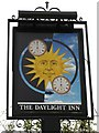 TQ4467 : Second sign for The Daylight Inn, Station Square, Petts Wood, BR5 by Mike Quinn