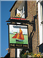 TQ3979 : Sign for the Pilot Inn by Stephen Craven