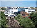 TQ8109 : Hastings station and university by Oast House Archive