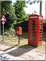 TG0321 : Telephone Box &amp; The Street Postbox by Adrian Cable