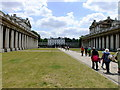 TQ3877 : The Old Royal Naval College, Greenwich., looking toward Queens House by PAUL FARMER