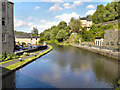 SD9323 : Rochdale Canal at Fielden Wharf by David Dixon