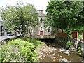 SD9323 : Culvert under former Shade Wesleyan Chapel, Rochdale Road, Todmorden by Humphrey Bolton