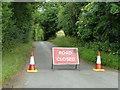 TQ3760 : Road closed by Robin Webster