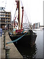 "TM1644 : Sailing Barge ""Victor"" in Ipswich Wet Dock by Chris Holifield"