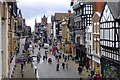 SJ4066 : Eastgate Street, Chester from the city wall by Cameraman