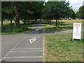 TQ2875 : Cycle path on Clapham Common by Malc McDonald
