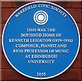 Photo of Kenneth Leighton blue plaque