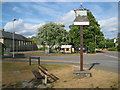 TL3856 : Comberton: The village sign by Nigel Cox