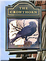 SJ9298 : The Crowthorn (sign) by David Dixon