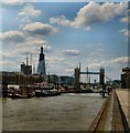 TQ3380 : Tower Bridge and the Shard by Paul Gillett
