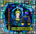 TQ3277 : St Michael & All Angels, Wyndham Road - Stained glass window by John Salmon