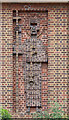 TQ2387 : Little St Peter, Claremont Way - Decorative brickwork by John Salmon