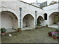 SH7877 : Inner courtyard at Plas Mawr Elizabethan town house by Dave Spicer