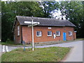 TM1868 : Bedingfield Village Hall &amp; Roadsign by Adrian Cable