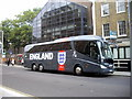 TQ2677 : England Coach in Fulham Road, Chelsea by PAUL FARMER