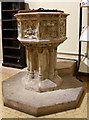 TQ3585 : St Barnabas, Homerton High Street - Font by John Salmon