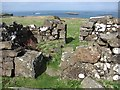 NM2842 : Ruins, Lunga by Richard Webb