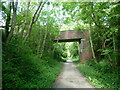 SK4862 : Bridge over disused railway line by Andrew Hill