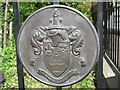 TQ2683 : Arms of the former Metropolitan Borough of St. Marylebone on the gates of Violet Hill Gardens by Mike Quinn