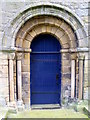 SE2280 : West door, St Mary's Church by Miss Steel
