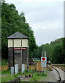 SJ9853 : Signal box at Leekbrook Junction, Staffordshire by Roger  Kidd