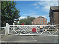 TF1443 : Level crossing gates at Heckington by John Firth