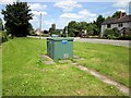 SJ4773 : Electricity box, Dunham-on-the-Hill by Jeff Buck