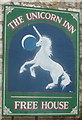 ST2899 : Pub sign, The Unicorn Inn, Cwmynyscoy, Pontypool by John Grayson