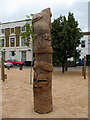 TQ3677 : Fordham Park: carved pole by Stephen Craven
