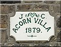 SJ9593 : Acorn Villa date stone by Gerald England