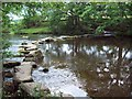 SK2181 : Stepping Stones Over the River Derwent by Jonathan Clitheroe