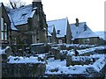 SD8263 : The old primary school, Settle in the snow by Lynda Thorowgood