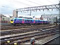 SJ8597 : Trans Pennine train bound for Arnside enters Piccadilly Station by Raymond Knapman