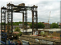 TQ3777 : Railway lifting bridge over Deptford Creek by Robin Webster